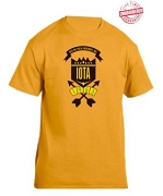 Iota Phi Theta School Daze T-Shirt, Gold - EMBROIDERED with Lifetime Guarantee