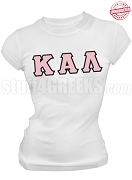 Kappa Alpha Lambda Greek Letter T-Shirt, White - EMBROIDERED with Lifetime Guarantee