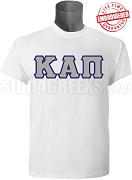 Kappa Alpha Pi Men's Greek Letter T-Shirt, White - EMBROIDERED with Lifetime Guarantee
