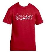 Kappa Alpha Psi Black History Screen Printed T-Shirt, Red