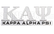 Kappa Alpha Psi Chrome Greek Letters Car Decal (NS)