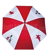 Kappa Alpha Psi Auto Open Golf Umbrella with Shield and Kappa Man, Red/White (NS)