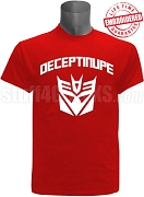 Kappa Alpha Psi DeceptiNUPE Shirt, Red - EMBROIDERED with Lifetime Guarantee