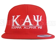 Kappa Alpha Psi Greek Letter Snapback Cap, Red (SAV)