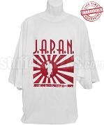 J.A.P.A.N. T-Shirt, White - EMBROIDERED with Lifetime Guarantee