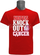 Kappa Alpha Psi Pink Ribbon Knock Out (Breast) Cancer Printed T-Shirt, Red