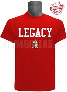 Kappa Alpha Psi Legacy T-Shirt, Red - EMBROIDERED with Lifetime Guarantee