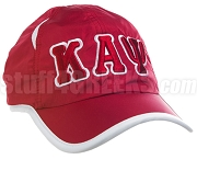 Kappa Alpha Psi Greek Letter Featherlight Golf Cap, Crimson (SAV-8FL) - ON BACKORDER UNTIL LATE 2019