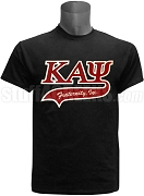 Kappa Alpha Psi Greek Letter Tail Patch T-Shirt, Black (NS)