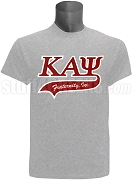 Kappa Alpha Psi Greek Letter Tail Patch T-Shirt, Grey (NS)