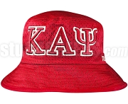 Kappa Alpha Psi Greek Letters Floppy Bucket Hat with Founding Year, Red (NS)
