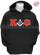 Kappa Alpha Psi/Mason Square and Compass Sweatshirt, Black - EMBROIDERED with Lifetime Guarantee