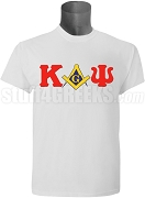 Kappa Alpha Psi/Mason Square and Compass T-Shirt, White