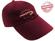 KappaNupeGear - Kappa Alpha Psi Letters and Logos Baseball Cap, Crimson - EMBROIDERED WITH LIFETIME GUARANTEE
