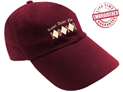 KappaNupeGear - Kappa Alpha Psi Triple Diamond and Founding Year Baseball Cap, Crimson - EMBROIDERED WITH LIFETIME GUARANTEE