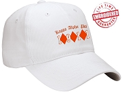 KappaNupeGear - Kappa Alpha Psi Triple Diamond and Founding Year Baseball Cap, White - EMBROIDERED WITH LIFETIME GUARANTEE