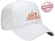 KappaNupeGear - Phi Nu Pi, Cane and Founding Year Baseball Cap, White - EMBROIDERED WITH LIFETIME GUARANTEE