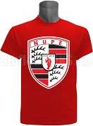 Kappa Alpha Psi Screen Printed T-Shirt with Porsche Inspired Logo, Red