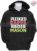 Kappa Alpha Psi Raised Mason Hoodie Sweatshirt, Black - EMBROIDERED with Lifetime Guarantee