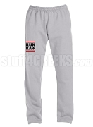 Kappa Alpha Psi Run DMC Screen Printed Sweatpants, Grey