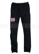 Kappa Alpha Psi Run DMC Screen Printed Sweatpants, Black (AB)