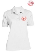 Kappa Alpha Psi Silhouette Polo Shirt, White - EMBROIDERED with Lifetime Guarantee