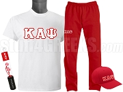 Kappa Alpha Psi Sports Package - INCLUDES ATHLETIC PANTS, PERFORMANCE SHIRT, LIGHTWEIGHT HAT & WATER BOTTLE