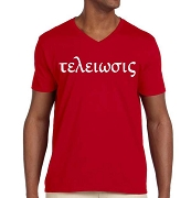 Kappa Alpha Psi Texelwols Screen Printed V-Neck Tee, Red