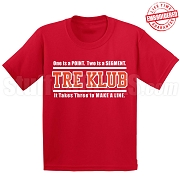 Kappa Alpha Psi Tre Klub (Gen1) T-Shirt, Red - EMBROIDERED with Lifetime Guarantee