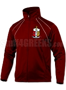 Kappa Alpha Psi Large Crest Track Jacket with Lifetime Embroidery Guarantee, Crimson (BAW)