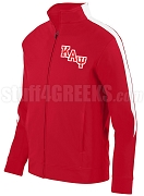 Kappa Alpha Psi Logo Track Jacket, Red/White (AUG)