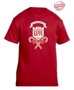 Kappa Alpha Psi School Daze T-Shirt, Red - EMBROIDERED with Lifetime Guarantee