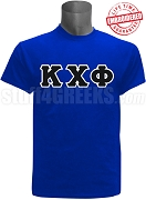Kappa Chi Phi Greek Letter T-Shirt, Royal Blue - EMBROIDERED with Lifetime Guarantee