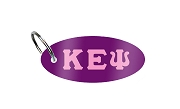Kappa Epsilon Psi Key Chain with Greek Letters, Purple
