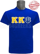 Kappa Kappa Psi T-Shirt with Greek Letters, Royal - EMBROIDERED with Lifetime Guarantee