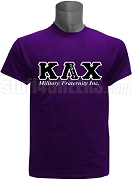 Kappa Lambda Chi Greek Letter Screen Printed T-Shirt, Purple