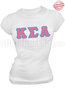 Kappa Sigma Alpha Greek Letter T-Shirt, White - EMBROIDERED with Lifetime Guarantee