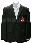 Kappa Sigma Blazer Jacket with Crest, Black