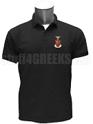 Kappa Sigma Polo Shirt with Crest, Black