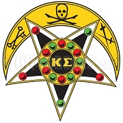 Kappa Sigma Skull & Star Badge Patch