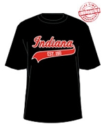 Indiana 1911 T-Shirt, Black - EMBROIDERED with Lifetime Guarantee