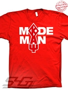 Kappa Made Man T-Shirt, Red - EMBROIDERED with Lifetime Guarantee