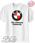 Kappa Alpha Psi - The Ultimate Fraternity, White Tee - EMBROIDERED with Lifetime Guarantee