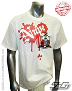 Nupe Metallic Vintage T-Shirt, White - EMBROIDERED with Lifetime Guarantee