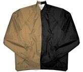 Clearance: Tan/Black Two-Tone Coaches Jacket, Size MEDIUM, Blank