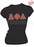 Lambda Phi Delta Greek Letter T-Shirt, Black - EMBROIDERED with Lifetime Guarantee