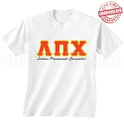 Lambda Pi Chi (LPC) T-Shirt, White - EMBROIDERED with Lifetime Guarantee