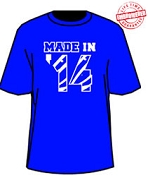 MADE IN... Shirt - Royal/White (Sigma) - EMBROIDERED with Lifetime Guarantee