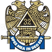 Mason 32nd Degree Emblem Patch