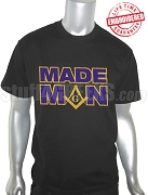 Mason MADE MAN Embroidered T-Shirt, Black - EMBROIDERED with Lifetime Guarantee